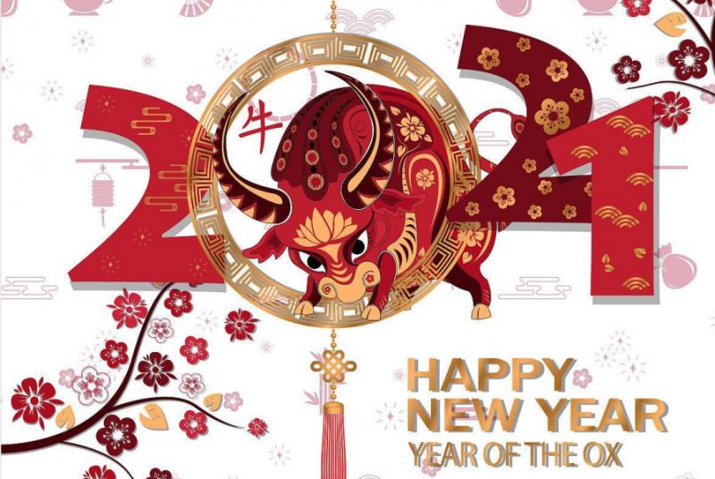 金牛贺岁 新年快乐    惠州市东聚塑胶制品有限公司    2021年春节放假通知